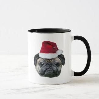 Christmas pug mug