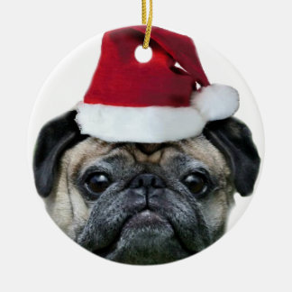 Christmas pug ornament