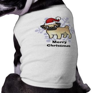 Christmas Pug Sleeveless Dog Shirt