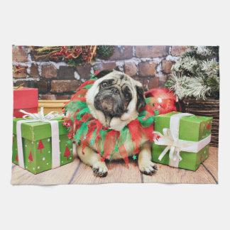 Christmas - Pug - Spencer Towel
