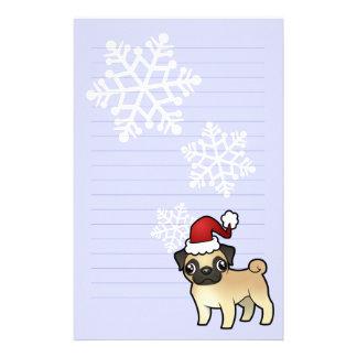 Christmas Pug Stationery