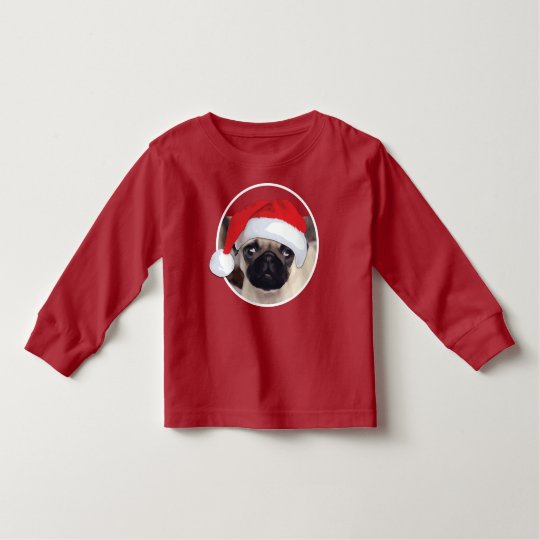 Christmas Pug - Toddler Long Sleeve T-Shirt