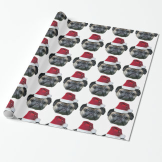 Christmas Pug wrapping paper