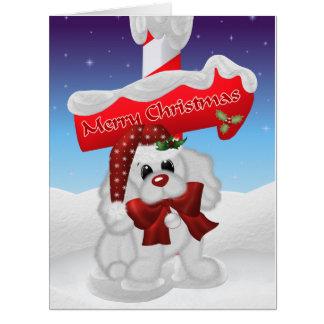 Christmas Puppy Big Greeting Card