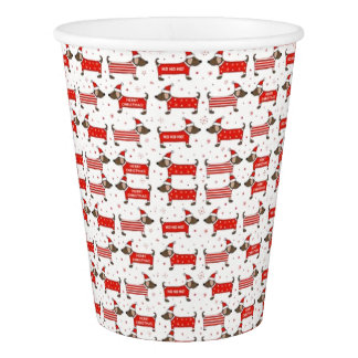 Christmas Puppy Design Party Cups