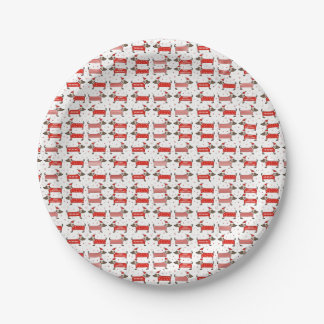 Christmas Puppy Design Party Plates