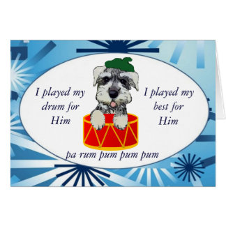Christmas Puppy Drummer Card