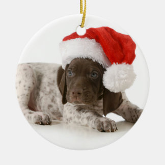 Christmas Puppy - German Shorthaired Pointer Christmas Ornament