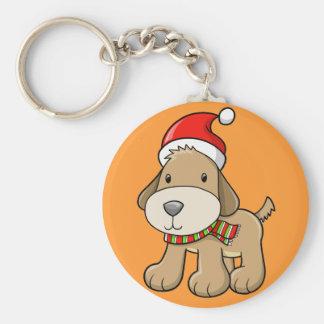 "Christmas Puppy ""Jack"" Button Keychain"