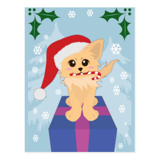 Christmas Puppy Post Cards