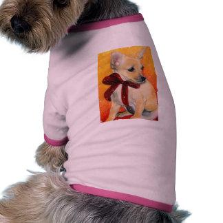 Christmas puppy snow pet clothes