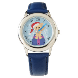Christmas Puppy Wrist Watches