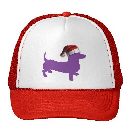 Christmas Purple Dachshund Mesh Hats