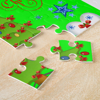 Christmas puzzle gift box for children