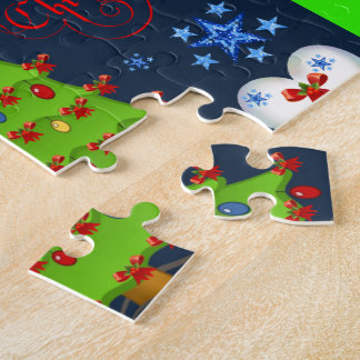 Christmas puzzle gift box for children blue