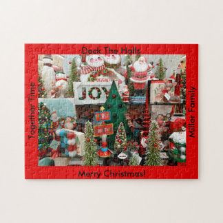 Christmas Puzzle YOUR NAME Deck The Halls