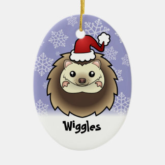 Christmas Pygmy Hedgehog (add your pets name) Christmas Ornament