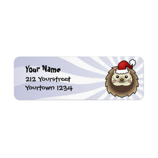 Christmas Pygmy Hedgehog Return Address Label