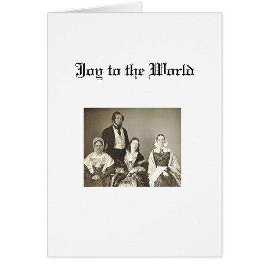 Christmas - Quaker Family Card