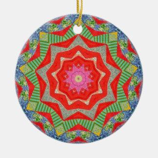 Christmas Quilt Fractal Christmas Ornament