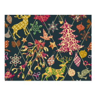 Christmas Quilt Postcard