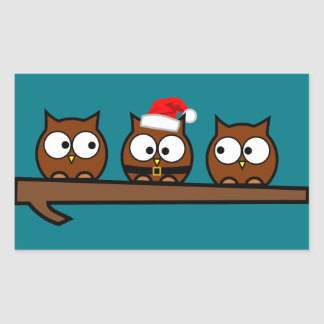 Christmas Quirky Owl Sticker