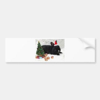 Christmas Rabbit Bumper Sticker