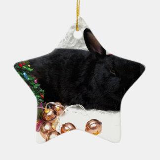 Christmas Rabbit Christmas Ornament