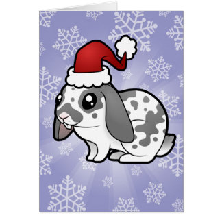 Christmas Rabbit (floppy ear smooth hair) Card