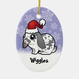 Christmas Rabbit (floppy ear smooth hair) Christmas Ornament