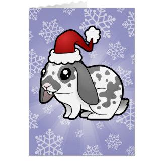 Christmas Rabbit (floppy ear smooth hair) Greeting Card
