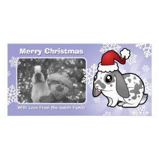 Christmas Rabbit (floppy ear smooth hair) Photo Cards