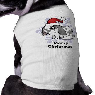 Christmas Rabbit (floppy ear smooth hair) Sleeveless Dog Shirt