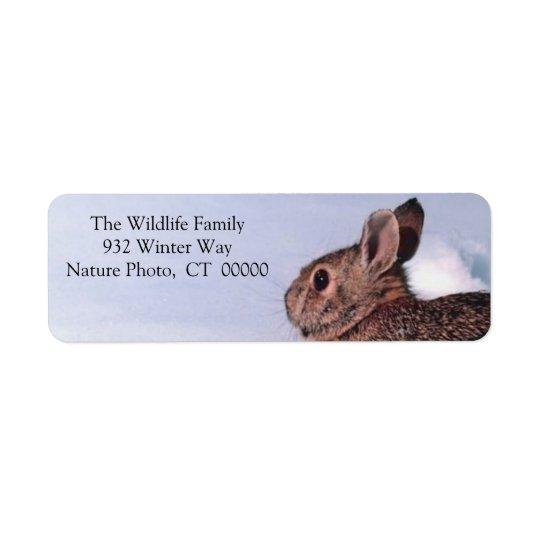Christmas Rabbit Holiday Return Address Stickers Return Address Label