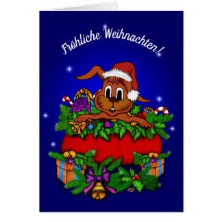 Christmas rabbit, merry Christmas! Card