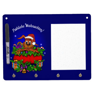 Christmas rabbit, merry Christmas! Dry Erase Board With Key Ring Holder