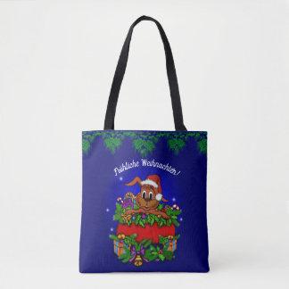 Christmas rabbit, merry Christmas! Tote Bag