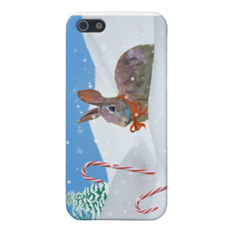 Christmas, Rabbit, Snow, Candy Canes iPhone 5/5S Case