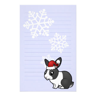 Christmas Rabbit (uppy ear smooth hair) Stationery