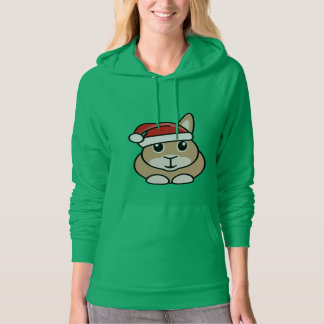 Christmas Rabbit Women's Hoody Sweatshirt