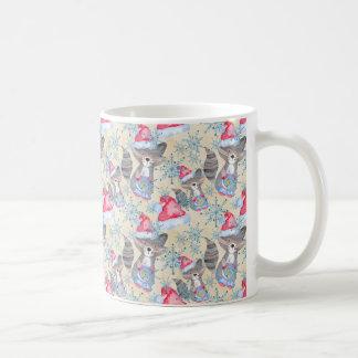 Christmas Raccoon Coffee Mug