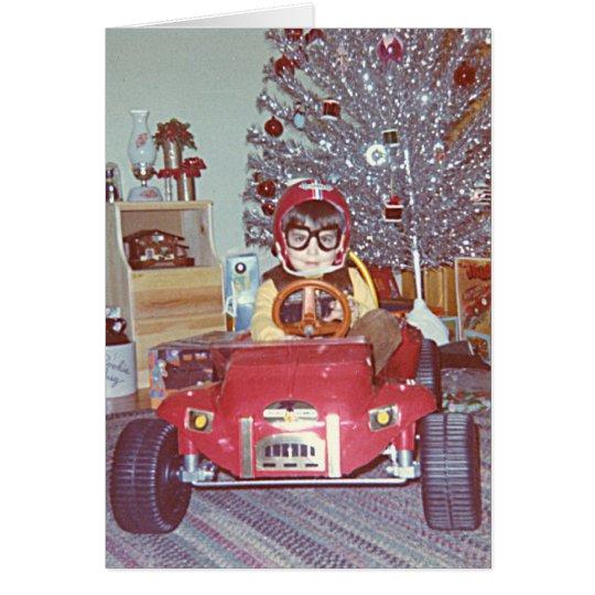 Christmas Racer Card