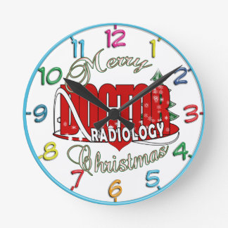 CHRISTMAS RADIOLOGY DOCTOR ROUND WALLCLOCK