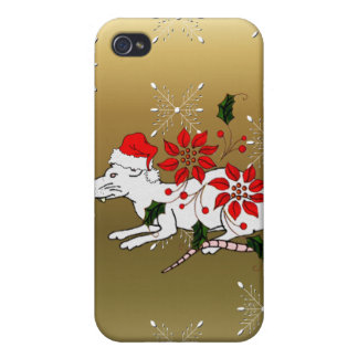 Christmas Rat Cover For iPhone 4