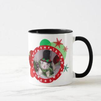 Christmas rat mug