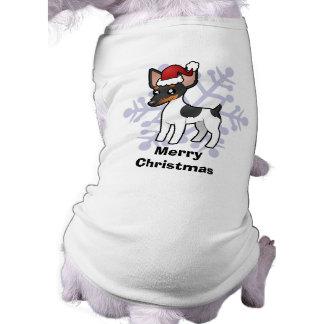 Christmas Rat Terrier / Toy Fox Terrier Sleeveless Dog Shirt