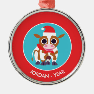 Christmas Reba the Cow Christmas Ornament