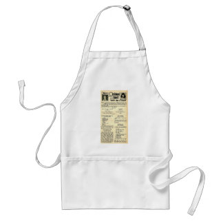 Christmas Recipes with Silent movie stars Standard Apron