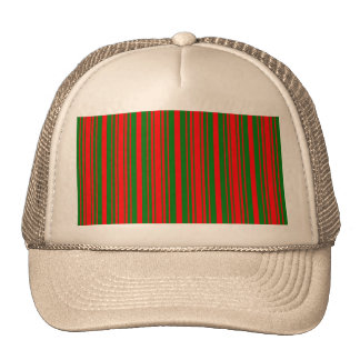 Christmas Red and Christmas Green Stripes Trucker Hat