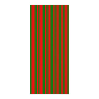 Christmas Red and Christmas Green Stripes Personalized Announcement Cards